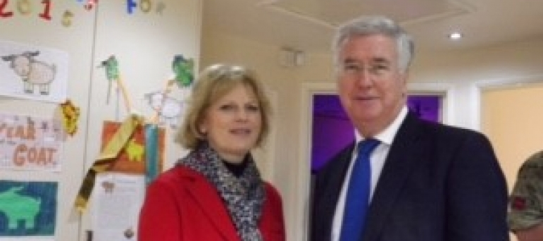 Secretary of State for Defence, Michael Fallon, visits Alderman Pounder
